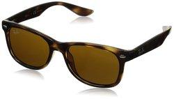 Ray Ban Junior Square Sunglasses - Shiny Black/Brown - Size: 50m