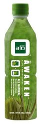 Alo Awaken Aloe Vera Wheatgras Juice - Pack of 12 - 16.9 Oz