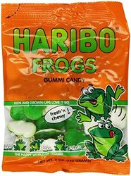 Haribo Frogs Gummi Candy - 5 Ounce - 4 Pack