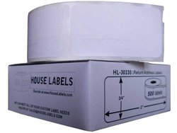 Houselabels 3/4 x 2 Inches Dymo-Compatible 30330 Multipurpose Labels, 1 Roll, 500 Labels per Roll