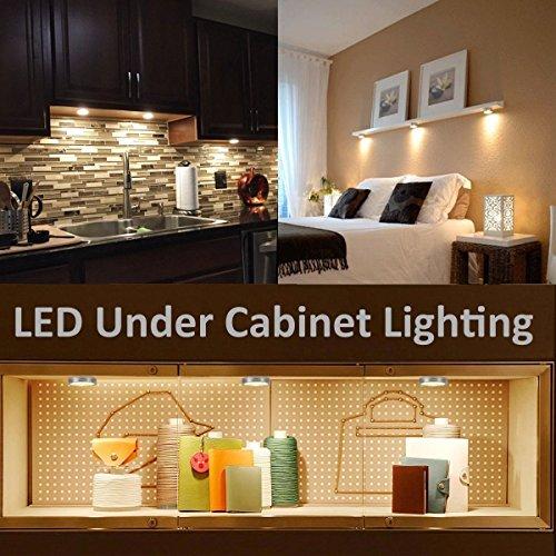 LE 5 Pack LED Under Cabinet Lighting, Brightest Puck Lights, 12V DC Under  Counter ...