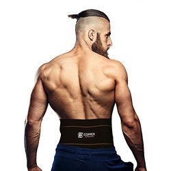 Copper Compression Lower Back Lumbar Support Brace - Black