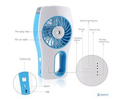 Pakway Portable Handheld USB Mini Misting Fan Cooling Mist - Blue