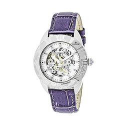 Empress Godiva Women's Automatic Skeletonized Watch - Purple/Silver