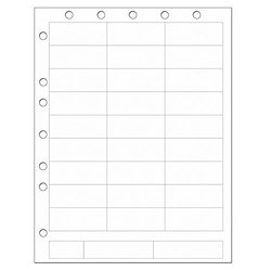 PDC Healthcare 1000-Pc Chart Labels Laser Portrait with Holes - White