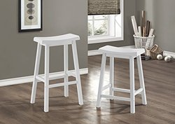 Monarch Specialties 9-Inch Barstool Set of white, 2