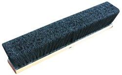 "Zephyr Tampico Fiber Wood Block Push Broom - 18"" Head Width - Black"