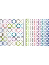 "1"" Pattern Play Vinyl Binder, Striped Design"