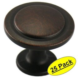 "Cosmas® 5560ORB Oil Rubbed Bronze Cabinet Hardware Round Knob - 1-1/4"" Diameter - 25 Pack"
