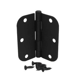 "3.5"" Door Hinges with 5/8"" Radius Corners - Matte Black"