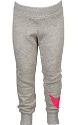Nike Girl's N40 Cuff Fleece Pants - Grey Heather/Pink - Size: 3T