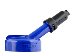 Spectrum Oil Container with 1-inch Nozzle Lid - Blue