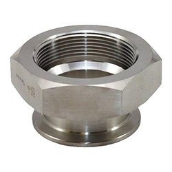 "Steel and O'brien 3/4"" x 3/8"" x 1.5"" OAL Stainless Steel 22MP Adapter"