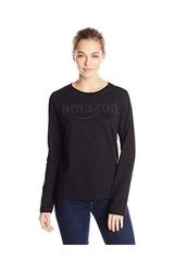 Amazon Gear Women's Long Sleeve T-Shirt w/ Tonal Logo - Black - Sz: Small