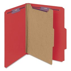 Smead SMEAD C402-5A-1D5 Top Tab Folder - Red- Pack of 50