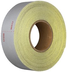 "Heskins 2""x150' Kiss Cut DOT Conspicuity Tape - White"