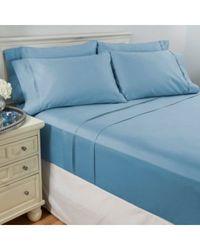 6-Piece 950TC Egyptian Cotton Sheet Set - Sky Blue - Size: Queen