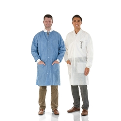 Medicom SafeWear Knee Length Lab Coats - 12 Pk - Pretty Pink - Size: Small