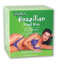 Andrea Brazilian Hard Wax for Private Parts Kit - Hard Wax Oil