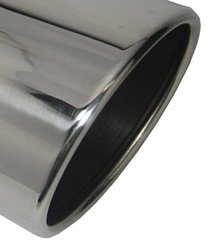 "Wesdon 4.00"" Inlet Stainless Steel Mirror Polished Diesel Exhaust Tip"