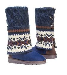 Muk Luks Women's Shawna Sweater Boots - Dark Blue - Size: 6