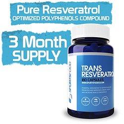 Trans Resveratrol 500mg Antioxidant Capsule - 180-Count