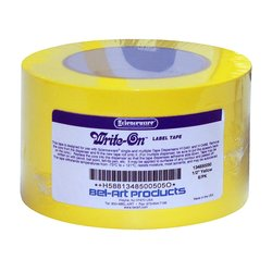 Bel-Art F13485-0050 Write-On Yellow Label Tape - Pack of 6