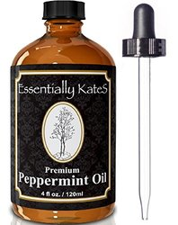 4 oz. Peppermint Essential Oil  with User's Guide E-book and Glass Dropper