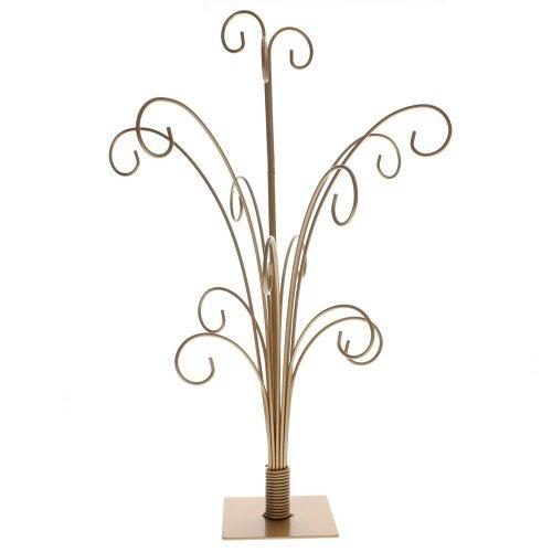 Tripar Ornament Display Tree Holds 15 Ornaments Gold Metal Size 20