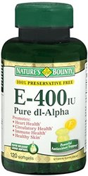 Natures Bounty Vitamin E 400 Iu Pure Dl-Alpha - 120 Softgels