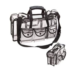 MG Collection Heavy Duty Clear See Through Vinyl Makeup Travel Organizer