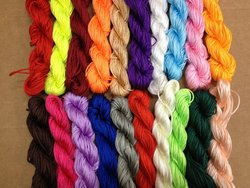 PEPPERLONELY Nylon Beading String Knotting Cord 21 Bundles X 24 Yards 1mm
