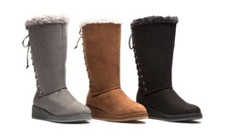 Olive Street Women's Cold Weather Comfort Boots - Grey - Size: 9