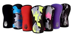 Bear KompleX Knee Sleeves (SOLD AS A PAIR of 2) Crossfit, Weightlifting, Powerlifting, Squats, and more. Neoprene Compression sleeves come in 5mm and 7mm, multiple colors, BLUE CAMO 7mm LARGE