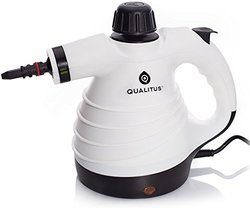 Qualitus Cleveland Steamer ETL Listed Handheld Multi-Purpose Pressurized Steam Cleaner & Sanitizing System w/ Attachments & Long 12 ft Cord - Perfect for Stain Removal, Curtains, Bathrooms, & more