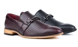 Signature Men's Diamond Cut Loafers - Wine - Size: 10
