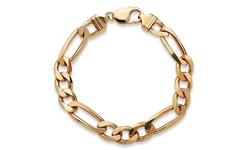 Palm Beach Jewelry Men's 14k Figaro Link Bracelet - Yellow Gold