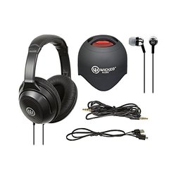Wicked Audio Bluetooth Speaker, Ear Buds & Headphones Bundle
