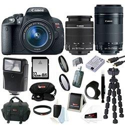 Canon T5i EOS Rebel T5i 18.0 MP CMOS Digital Camera W/ Lens + Bundle