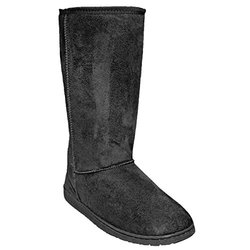Women's 13 Inch Microfiber Boots: Black - Size 8