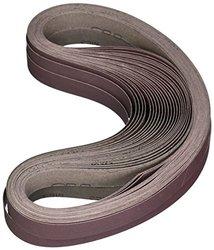 """3M 341D 1""""x42"""" P180-Grit Aluminum Oxide Sanding Cloth Belt - Pack of 200"""