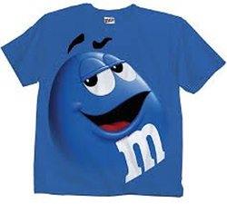 M&m Jumbo Fade Adult T-shirt: Blue/medium