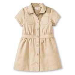 Cherokee Toddler Girls' Safari Dress - Pita Bread - Size: 3T