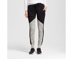 Mossimo Women's Color Block Jogger Pants - Black/Gray - Size: X-Large