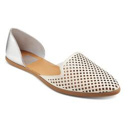 dv Women's Paige Ballet Flats - White - Size: 6