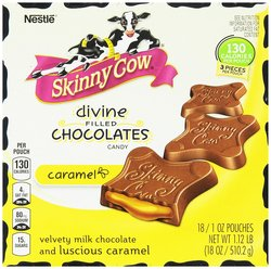 Nestle 1Oz Skinny Cow Divine Filled Caramel Candy Chocolates - Pack of 18