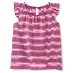 Cherokee Girls Print Woven Top - Raspberry - Size: M
