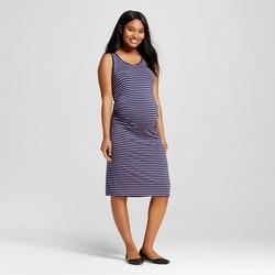 Liz Lange Maternity Striped Tank Dress - Purple/Navy - Size: Small