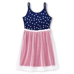 Circo Girls Americana Navy Stars Dress - Nightfall Blue - Size: M (7-8)