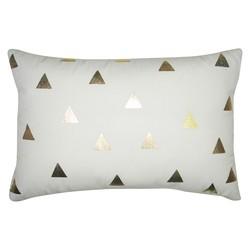 "Room Essentials 12"" x 18"" Diamond Gold Lumbar Decorative Pillow - White"